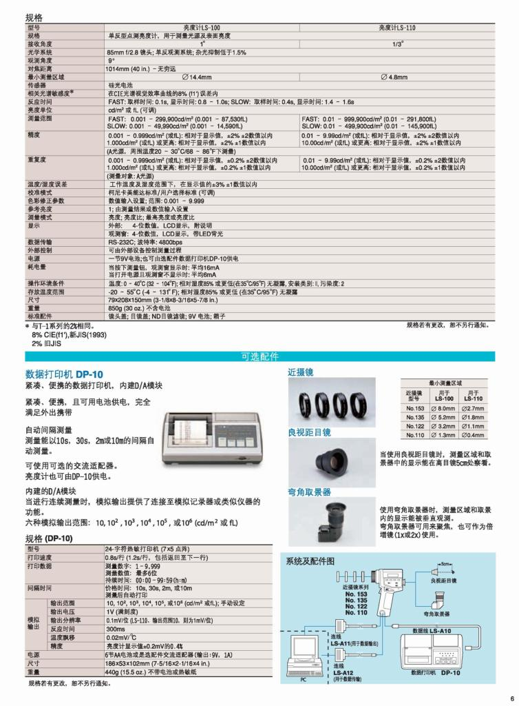 美能达LS-100/LS-110辉度计 2