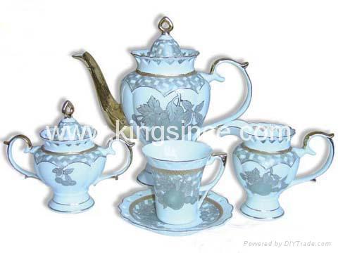 15 PCS PORCELAIN TEA SET 1