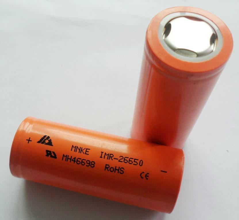 东莞厂家批发锰克 MNKE IMR26650 锂电池 3500MAH 3.7V 原装正品 1