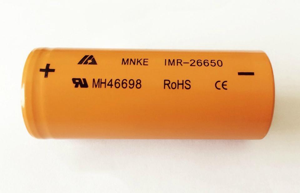 东莞厂家批发锰克 MNKE IMR26650 锂电池 3500MAH 3.7V 原装正品 4