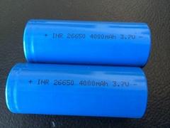 手電筒移動電源藍牙音響3.7V26650鋰離子電池4000mah平頭尖頭