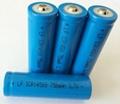 手電筒3.7V14500可充鋰電池750MAH圓柱鋰離子電池  1