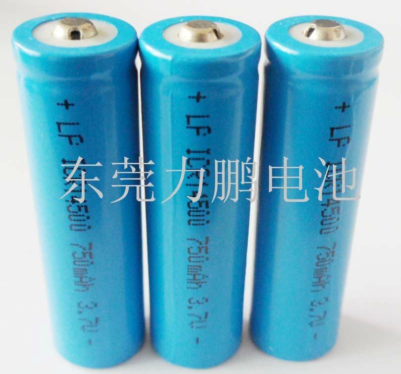 手電筒3.7V14500可充鋰電池750MAH圓柱鋰離子電池  3