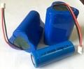 充电头灯18500锂电池1400MAH 3.7v带保护板带线手电筒 2