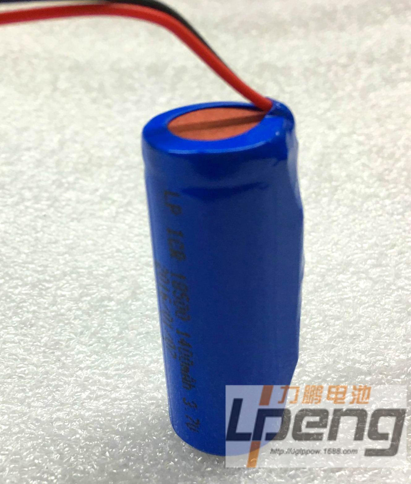 充电头灯18500锂电池1400MAH 3.7v带保护板带线手电筒 4