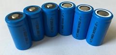 3.7V16340尖头锂电池600mah 16340电池组