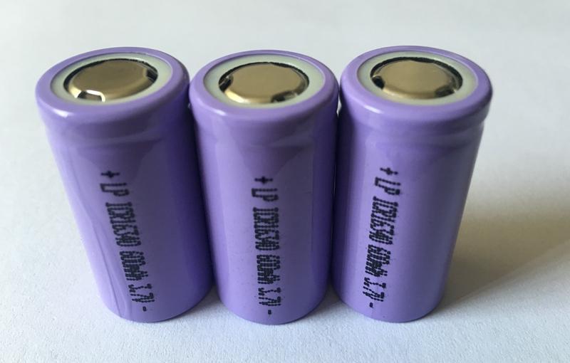 3.7V16340尖头锂电池600mah 16340电池组 5