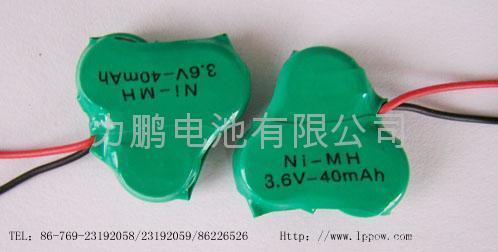 NI-MH Button Rechargeable Batterise 3.6VB40H 1