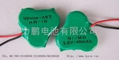 手電筒鎳氫扣式3.6VB40H電池組