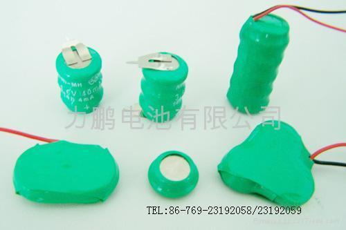 NI-MH Button Rechargeable Batterise 3.6VB40H 5