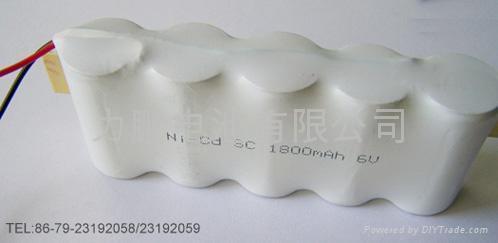 应急灯用镍镉6VSC1800MAH充电电池 2