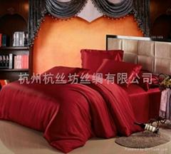 高檔絲綢床品套件