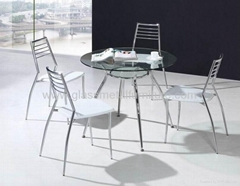 供應玻璃洽談桌 玻璃圓桌 洽談桌椅 SA-5215C