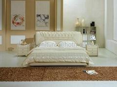 真皮软床,双人床,软床,卧室家具 C1073