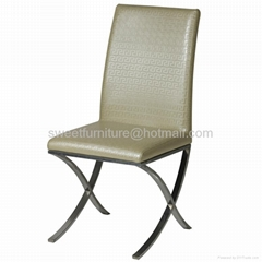 stainless steel chair hotel furniture dining chair
