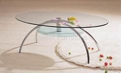 sell modern tea table,glass table,Oval glass coffee table