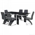 伸縮餐桌,玻璃餐台,功能餐桌,餐廳桌椅,出口傢具 2