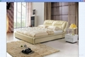 leather bed,bed,double bed,modern bedroom furniture C1080 2