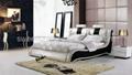 Modern leather bed,Bedroom Furniture 4