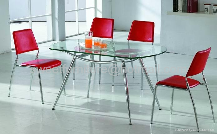 offer stackable dining metal chairs in PU 3