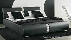 sell modern bed,leather
