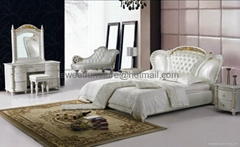 Bed,leather bed,Bedroom Sets,bedroom furniture C1008