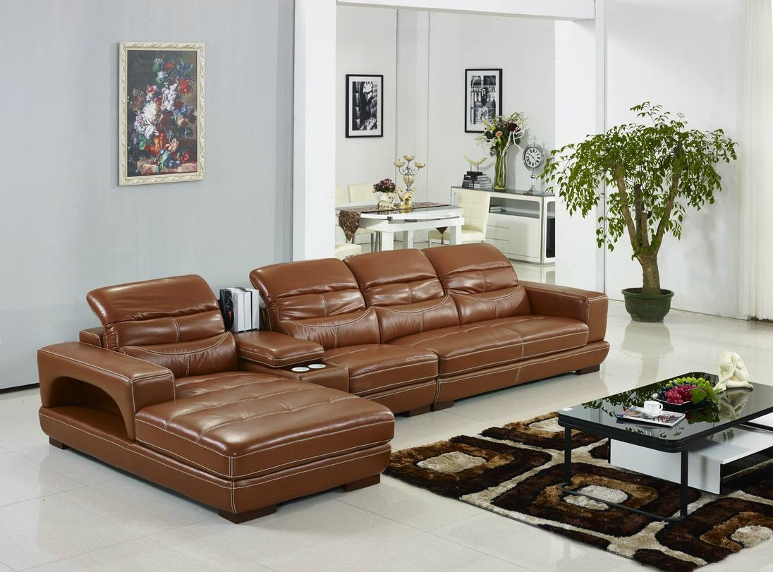Offer modern top grain cow leather corner sofa set with Living room furniture offers