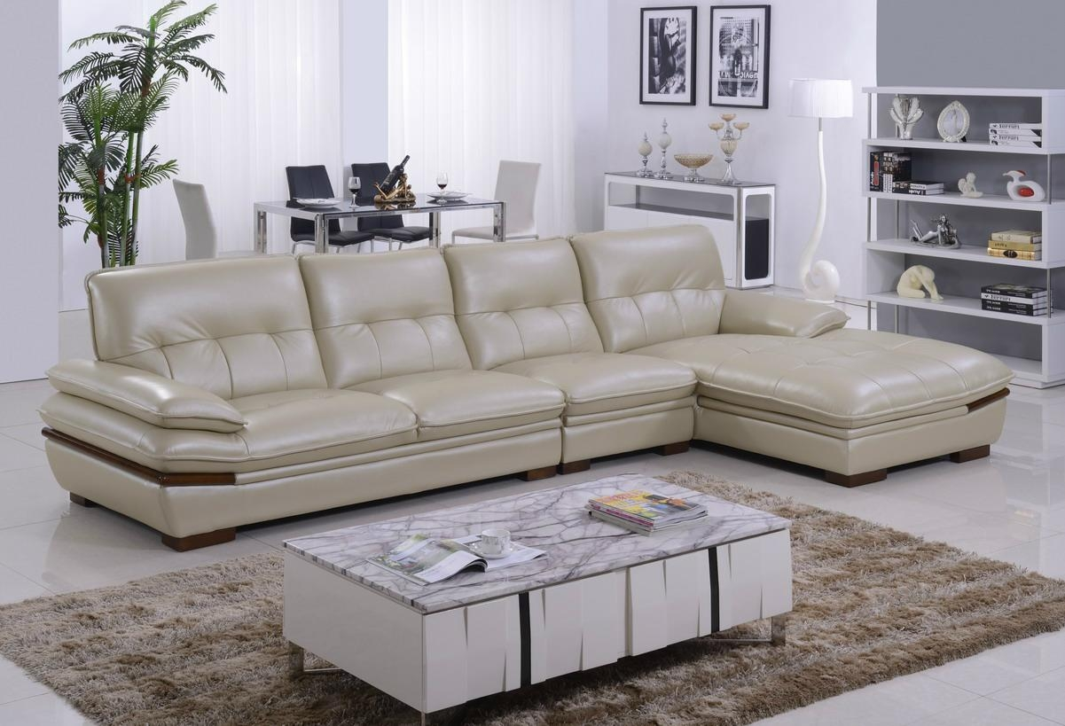 Offer Modern Top Grain Cow Leather Corner Sofa Set With