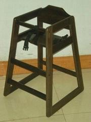 wood baby chair in Juglan-Daceae wood or custom-order rubberwood,natural beech