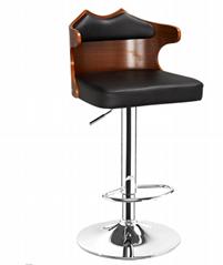 曲木酒吧椅,酒吧高腳椅,旋轉昇降吧椅