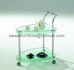 offer modern trolley,go cart,glass dining cart,dining trolley