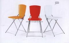 直销餐厅金属折叠椅子 ABS折