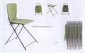 直销餐厅金属折叠椅子 ABS折叠接待椅 2