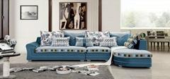 新款地中海布艺沙发 高弹海绵沙发 客厅组合转角布艺沙发特价批发