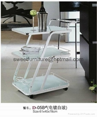 Sell glass dining Trolley,serving trolley,metal dining cart