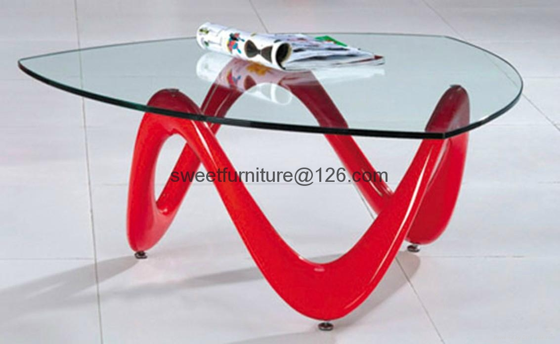 offer oval ABS glass table,Fiber Glass coffee table 2