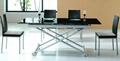 昇降餐台,多用途餐桌,伸缩餐桌,玻璃餐台