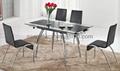 伸縮玻璃餐桌 餐廳桌椅 餐桌椅