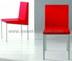 Offer Modern metal dining chair in PU and moulded foam