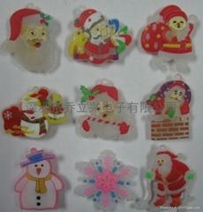 PVC閃光胸章聖誕類