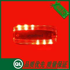 红蓝警示灯 双面LED闪灯 多功能肩灯 充电式肩灯