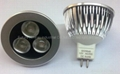 New design (dimmable MR16 3*2w)