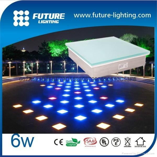 500X500 RGB color changing led floor tile light outdoor LED lighting
