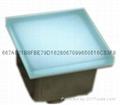 100X100 Led Glass floor tile light RGB