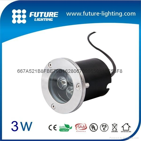 3W Shenzhen best price led underground light cool white led inground light