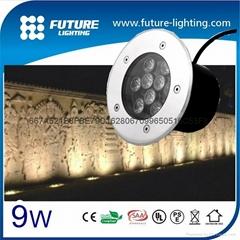 9W shenzhen factory CE and  Rohs led underground light