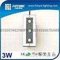 3W outdoor waterproof led square shape  inground light