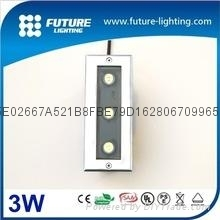 3W outdoor waterproof led square shape  inground light