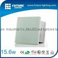 Outdoor 24V RGB stainless steel 100*100mm led recessed glass floor tile light