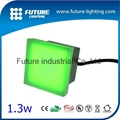 Waterproof IP67 12V outdoor recessed 100x100mm Glass Block Type led glass brick